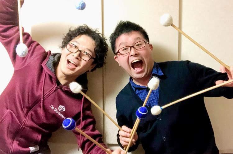 藤本亮平(マリンバ)×渡辺達文(ドラム)
